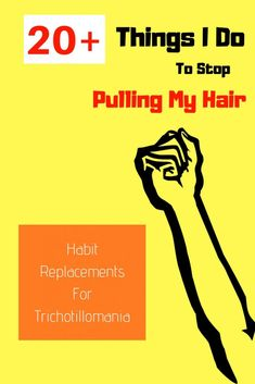 Things I Do To Stop Pulling My Hair - Habit Replacements for Trich Pulling Hair Out, Hair Loss Specialist, How To Relieve Stress, Disorders, Your Hair, Ocd, Memes, Mental Health, Budget