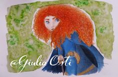 Drawn by me (Giulia Osti) Check out other creations on my blog! #illustration #Rebel #TheBrave #Princess #Merida #watercolor  ≈ Julia's World ≈: ~ Merida ~