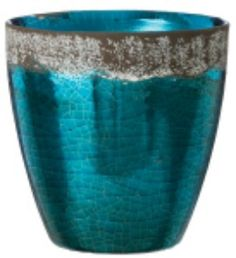 Metallic Blue Pot Metallic Blue, Home Decor Items, Decorative Items, Vase, Floral, Style, Swag, Decorative Objects, Flowers