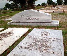 Coca Cola Inventor's Grave in Columbus, Georgia
