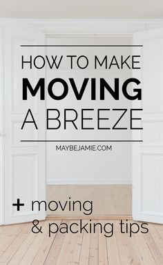 Moving into a new place can be stressful and exhausting, but there's so many things you can do to make the process a little bit easier on yourself. Whether you're in an apartment or house, these moving and packing tips will speed up the process and make it go oh so smooth.