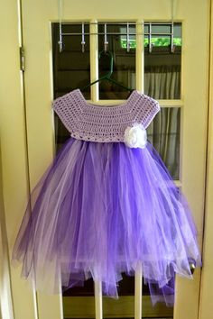 The View From My Hook: Free Pattern Friday: Kassia Empire Waist Dress (2-4 years) Crochet top, tulle bottom