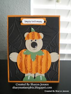 Halloween Bear punch art full card