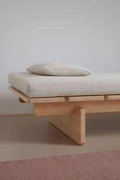 The Frankfurt-based studio of designer Johannes Fuchs has released 'Barril', an elegant daybed that takes its cues from the archetypal plank bed. Diy Furniture, Modern Furniture, Furniture Design, Handmade Wood Furniture, Modul Sofa, Minimalist Furniture, Furniture Inspiration, Bed Design, Bed Frame