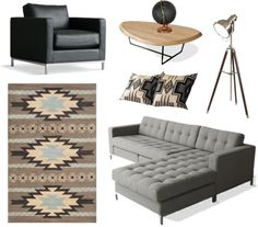 """""""Masculine Modern Living Room"""" by collageconsulting on Polyvore"""