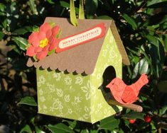 Merry Bird House by Qbee - Cards and Paper Crafts at Splitcoaststampers