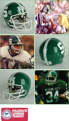 Michigan State Spartans 1983 to 1994 Full Size NCAA Throwback Helmet  Michigan State Spartans 8896708f8