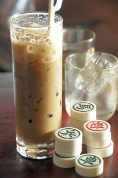 Vietnamese ice coffee. For a hot version, just omit the ice at the end of the recipe. In Vietnam the hot version will often be served in a cup of hot water to help keep it warm longer.