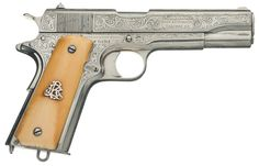 Rare One of a Kind Colt Factory Engraved Military/Commercial Government Model 1911 Pistol with Ivory Grips and Colt Documentation - http://www.rockislandauction.com/viewitem/aid/61/lid/3611