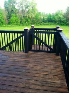 Deck railing isn't just a security function. It can include a spectacular visual to frame a decked area or deck. These 36 deck railing ideas reveal you how it's done! Deck Railing Design, Deck Railings, Deck Design, Railing Ideas, Pergola Ideas, Black Railing, Patio Ideas, Diy Pergola, Porch Ideas