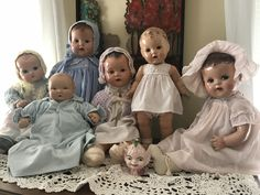 Vintage composition dolls, Ideal, R&B, Effanbee & unmarked baby dolls