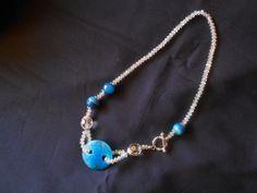 collana con agate azzurre e cristalli grigi, idea regalo., by Le gioie di  Pippilella, 22,00 € su misshobby.com