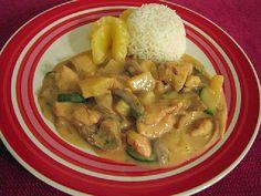 Broilerikastike ja riisiä