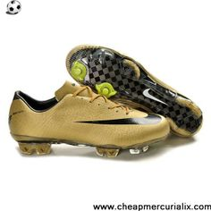 Buy 2013 New Nike Mercurial Vapor Superfly III FG Boot Gold Black Safari Football Shoes For SaleFootball Boots For Sale