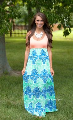 The Pink Lily Boutique - Sweet Surprise Maxi Peach, $40.00 (http://thepinklilyboutique.com/sweet-surprise-maxi-peach/)
