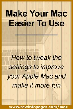 Make your Mac easier to use with little known macOS settings - Apple Computer Laptop - Ideas of Apple Computer Laptop - Want to make your Mac easier to use? Here are the settings you need to customise. Top tips for macOS. Medical Technology, Computer Technology, Energy Technology, Computer Programming, Technology Gadgets, Tech Gadgets, Camping Gadgets, Macbook Hacks, Macbook Pro Tips