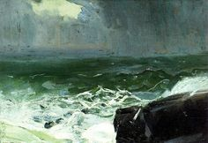 George Wesley Bellows - Approach of Rain, via Flickr.