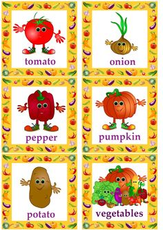 vegetable flashcards for kids learning English#esl flashcards