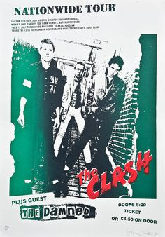 Clash UK tour poster