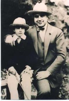 Al Capone with his son