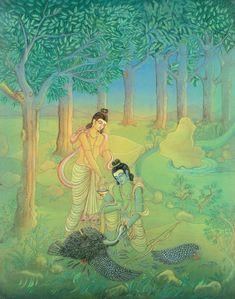 Durga Kali, Shiva Shakti, Lord Rama Images, Indian Art Gallery, Sri Rama, Hanuman, Krishna, Lord Vishnu, Epic Art
