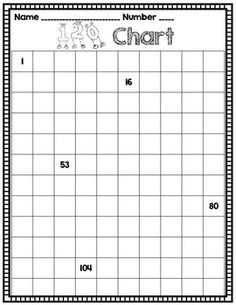 This freebie includes six versions of a 120 chart.  The first five each have five numbers filled in to help students self-check.  The last version is completely blank.Enjoy this quick print-and-go practice or assessment!