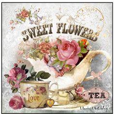 """Sweet Flowers, Love & Tea"" by marie-guzik-mcauley on Polyvore"