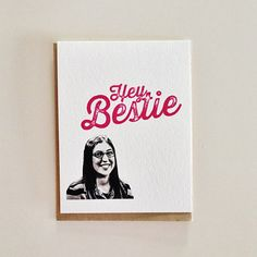 Hey Bestie Big Bang Theory Card by CrumpleAndToss on Etsy Big Bang Theory Gifts, Big Bang Theory Merchandise, Funny Birthday Cards, Birthday Greeting Cards, Birthday Quotes, Friend Birthday, Birthday Wishes, Custom Cards, Funny Cards