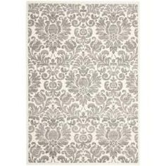 Featuring a damask motif in grey and ivory, this artfully loomed rug adds an eye-catching touch to your home library or living room decor. Area Rugs Cheap, Cheap Rugs, Contemporary Rugs, Modern Rugs, Grey Rugs, Ivory Rugs, My Living Room, Living Room Area Rugs, Living Spaces