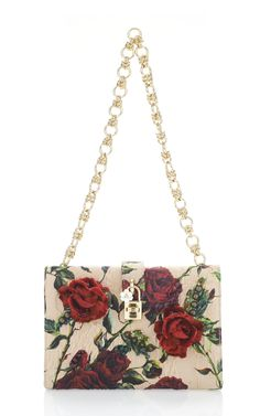 Embroidered Rose Print Satin Clutch  by Dolce & Gabbana Now Available on Moda Operandi