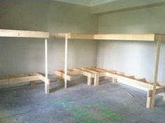 4 Bunk Beds Plans | built in bunk beds built in bunk beds i m working on with drawers ...