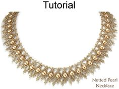Netted Pearl Beaded Necklace Beadweaving Jewelry Making Beading Pattern Tutorial by Simple Bead Patterns | Simple Bead Patterns