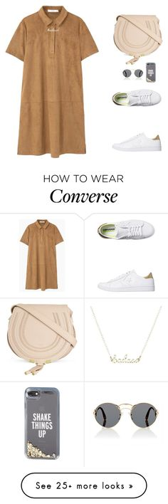 """""""Never get tired to wear sneakers"""" by nikekemala21 on Polyvore featuring MANGO, Converse, Chloé, Prada and Kate Spade"""