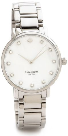 $225, Silver Watch: Kate Spade New York Gramercy Bracelet Watch. Sold by shopbop.com.