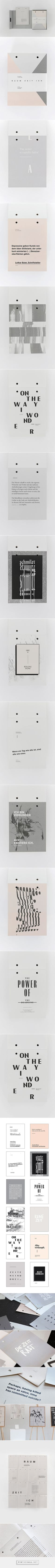 RAUM – ZEIT – ICH on Behance - created via http://pinthemall.net