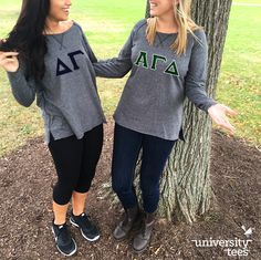 Fall ✓ Friends ✓ French Terry Sweatshirts ✓ #TrendingTuesday | Alpha Gamma Delta | Made by University Tees | www.universitytees.com
