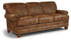 Flexsteel Furniture: Sofas: Bay BridgeNuvoLeather Sofa (N7791-31) - Available at Carter's Furniture, Midland, Texas 432-682-2843