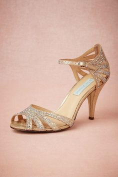 BHLDN Champagne Sparkle Heel || Five for Friday: Sparkly Shoes Under $150