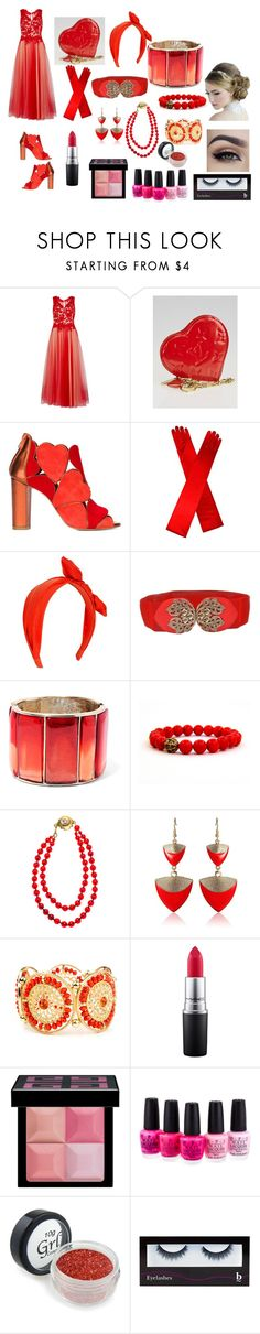 """""""Evie- Heart Ball"""" by ms-kitty-cat ❤ liked on Polyvore featuring Gina Bacconi, Louis Vuitton, Jean-Michel Cazabat, New Look, Oscar de la Renta, Chanel, Arizona, MAC Cosmetics, Givenchy and OPI"""