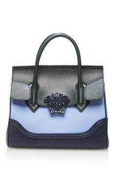 Small Colorblock Leather Shoulder Bag by VERSACE for Preorder on Moda Operandi