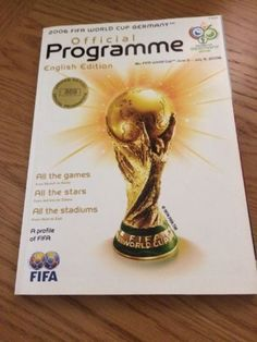 2006 fifa #world cup germany #official programme limited #edition,  View more on the LINK: http://www.zeppy.io/product/gb/2/371834550932/