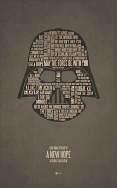 Star Wars Episode IV: A New Hope (1977) ~ Movie Quotes Poster by Jerod Gibson #amusementphile