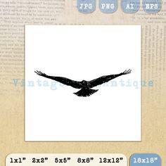 Digital Flying Bird Printable Image by VintageRetroAntique on Etsy