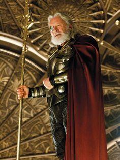 Tom Hiddleston (Loki) with Anthony Hopkins (Odin) on set ...