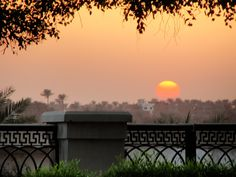 Sunset on the Nile.  Maadi area of Cairo.