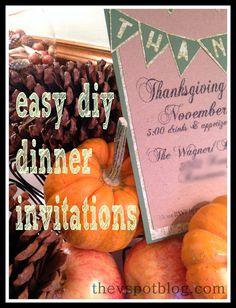 Thanksgiving dinner invitation ideas