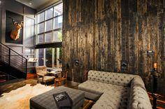 Flow Modern Interior Design industrial-living-room