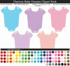 Rainbow Chevron, Rainbow Colors, Elements Of Art, Baby Shower Printables, Onesies, Packing, March, Clip Art, Decor