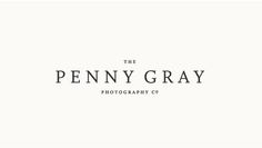 logo for penny gray photography