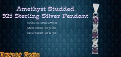 Amethyst Studded 925 Sterling Silver Pendant
